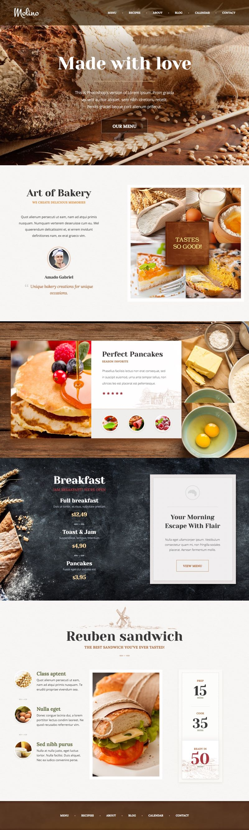 Molino WordPress Bakery Theme