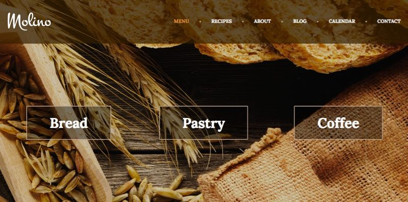 Molino WordPress Pastry Shop Theme
