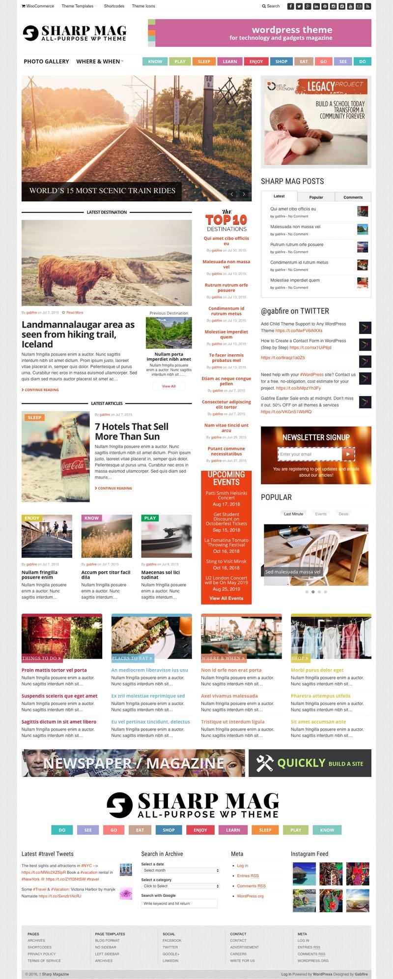 Sharp Mag WordPress Multipurpose Magazine Theme