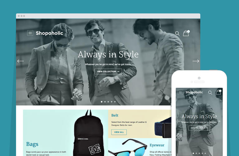 Shopoholic E-commerce WordPress Store Theme