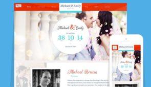 Wedding WordPress Groom & Bride Theme