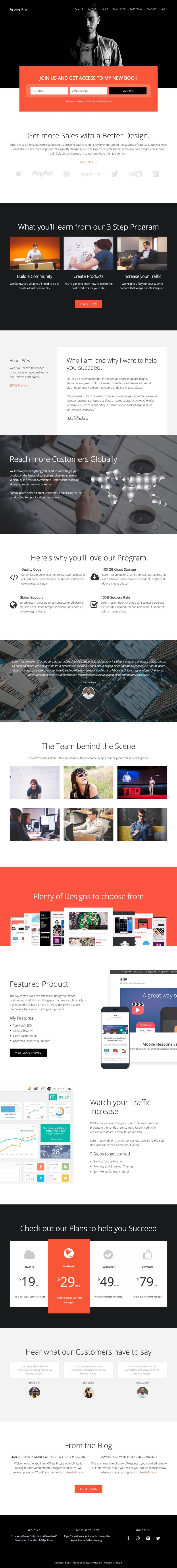 Aspire Pro WordPress Business Theme