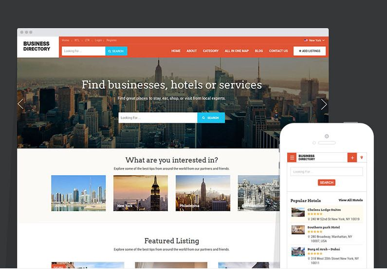 Business directory wordpress theme to create moneymaking site accmission Images