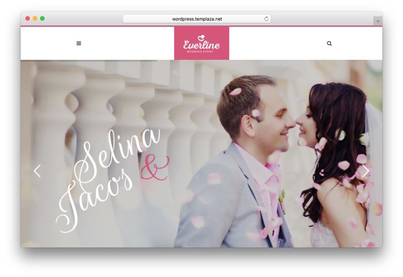 Everline WordPress Wedding Event Theme