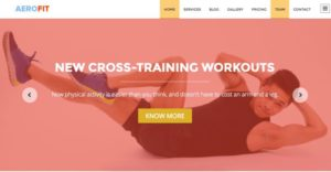 Free One Page WordPress Theme - Homepage Slider