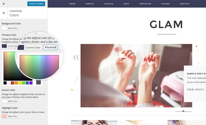 Glam Pro WordPress Feminine Lifestyle Blog Theme