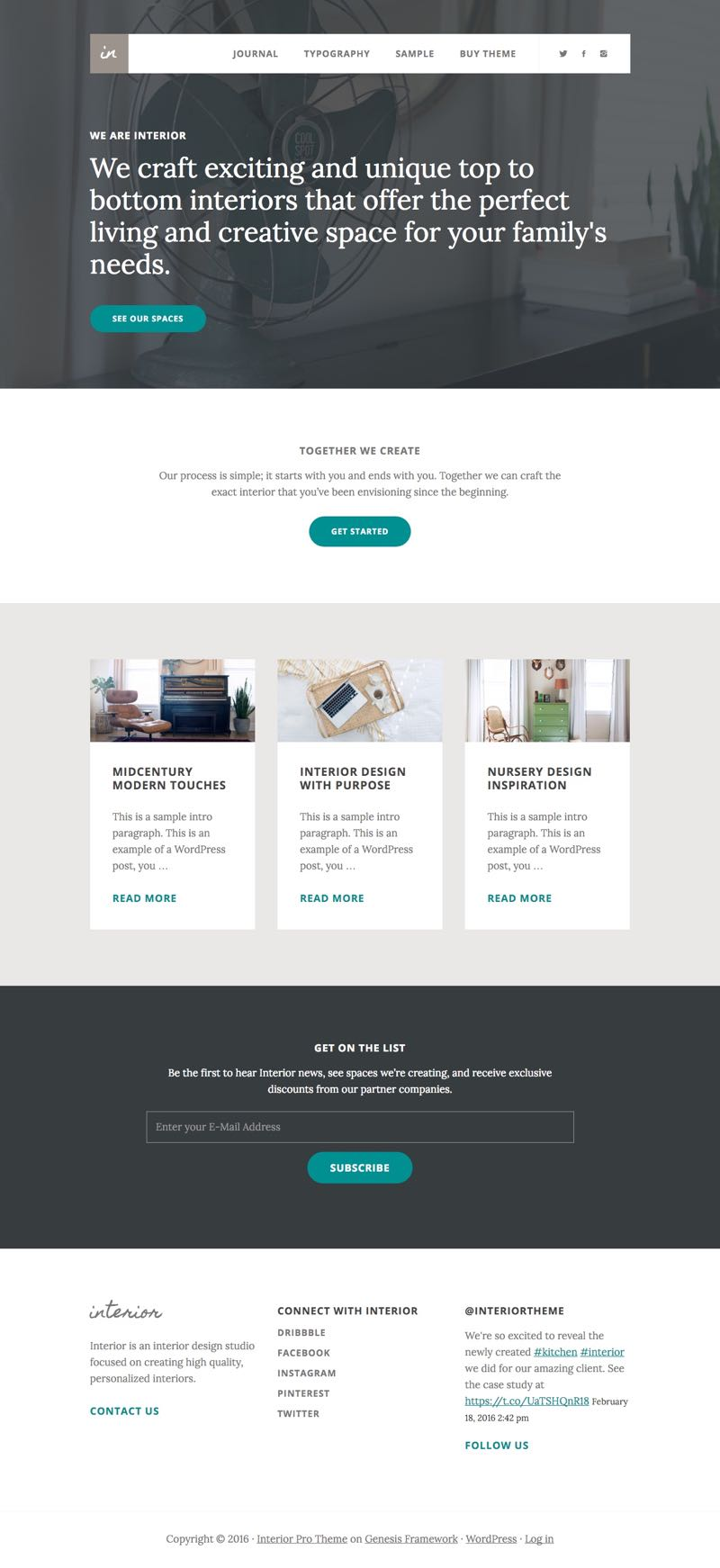 Interior Pro WordPress Digital Branding Theme