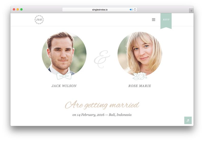 Jack & Rose WordPress Vintage Thematic Wedding Events Theme