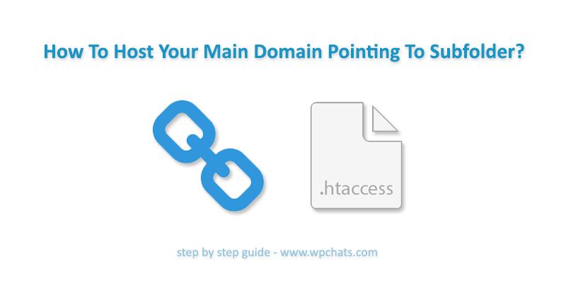 Main Domain Pointing To Subfolder