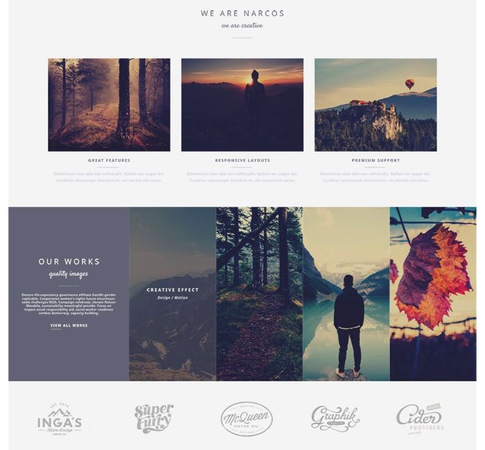 Narcos WordPress Theme - Home Creative Design
