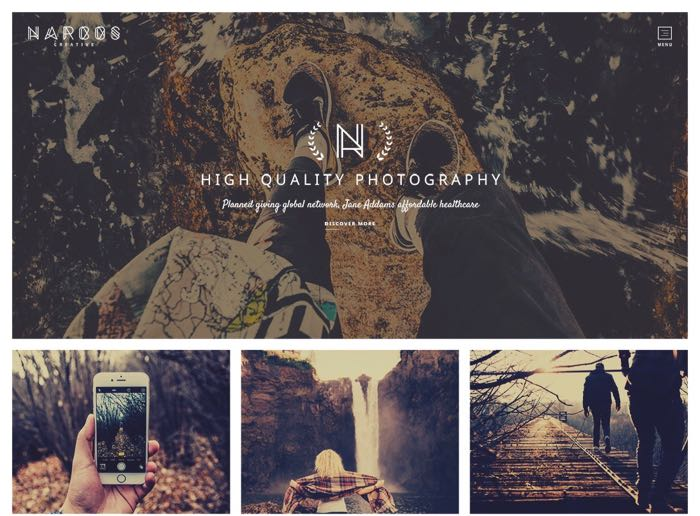 Narcos WordPress Theme - Home Portfolio Design