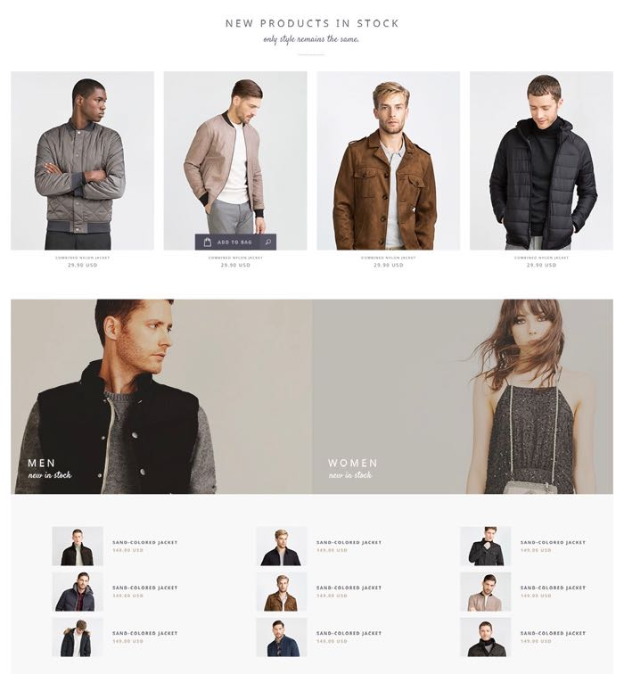 Narcos WordPress Theme - Home Shop Design