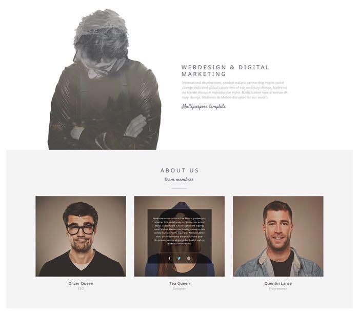Narcos WordPress Theme - Home Video Background Design