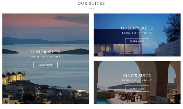 Rooms widget providing multiple layouts