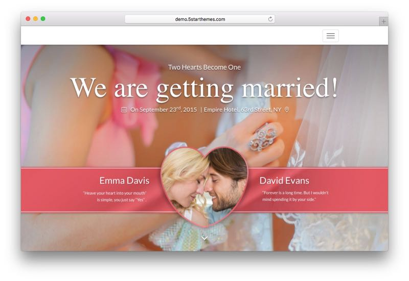 Say Yes WordPress Wedding & Family Blog Theme