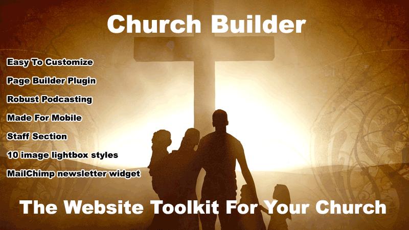 Church Builder WordPress Theme To Create Customized Church Sites