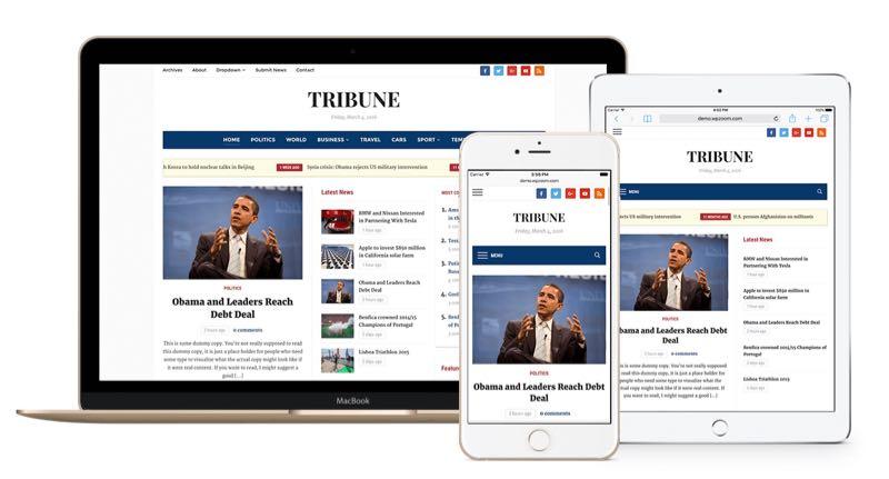 Tribune 4.0 Responsive WordPress Newspaper Theme