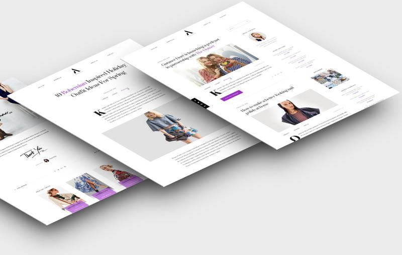 Aesthetic WordPress Lifestyle Bloggers Theme