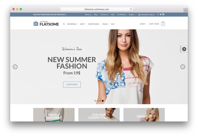 Flatsome Drag and Drop WordPress WooCommerce Theme