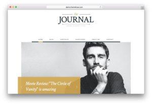 Journal Free WordPress Blogging Theme