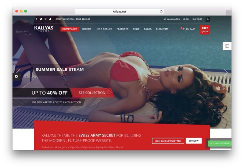 Kallyas Multipurpose WordPress WooCommerce Theme