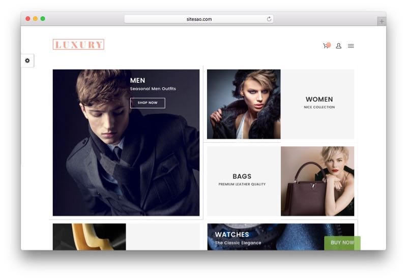 Luxury Dynamic Responsive WordPress WooCommerce Theme