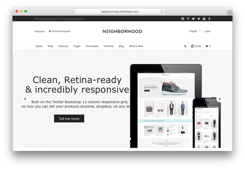 Neighborhood Multipurpose WooCommerce Theme