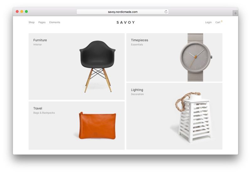 Savoy Minimalist Responsive Ajax WordPress WooCommerce Theme