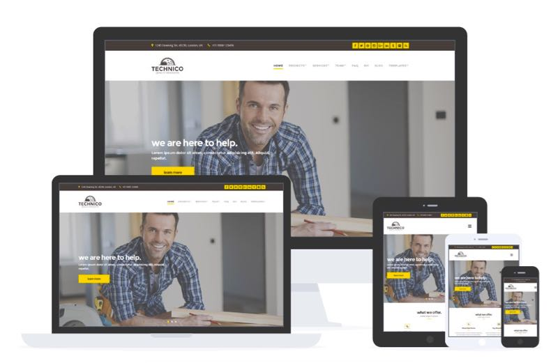 Technico WordPress Theme for Construction & Building Companies