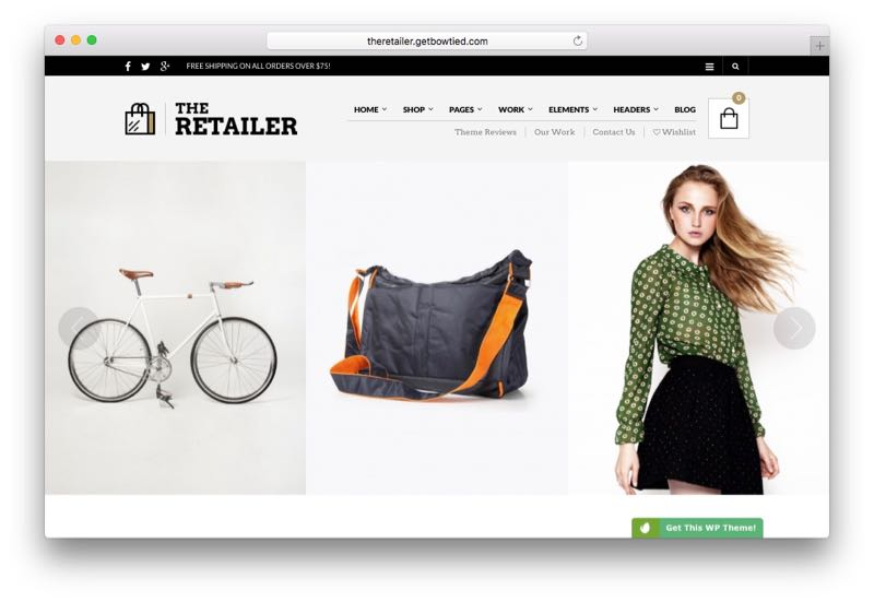 The Retailer Online e-Commerce Store Theme for WooCommerce
