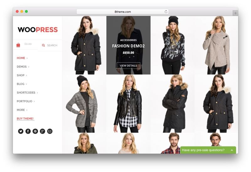 WooPress Online Shop WordPress WooCommerce Theme