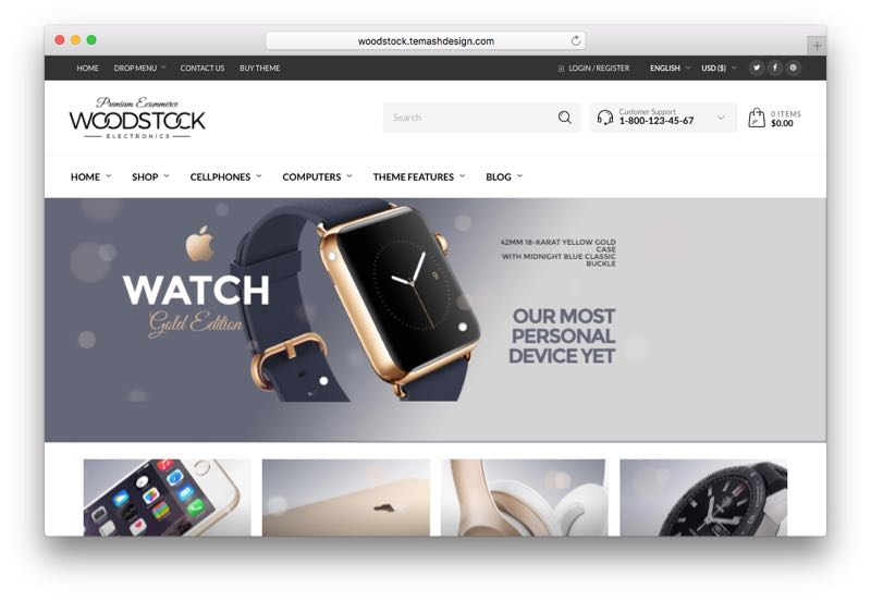 Woodstock Responsive Retina Ready WordPress WooCommerce Theme