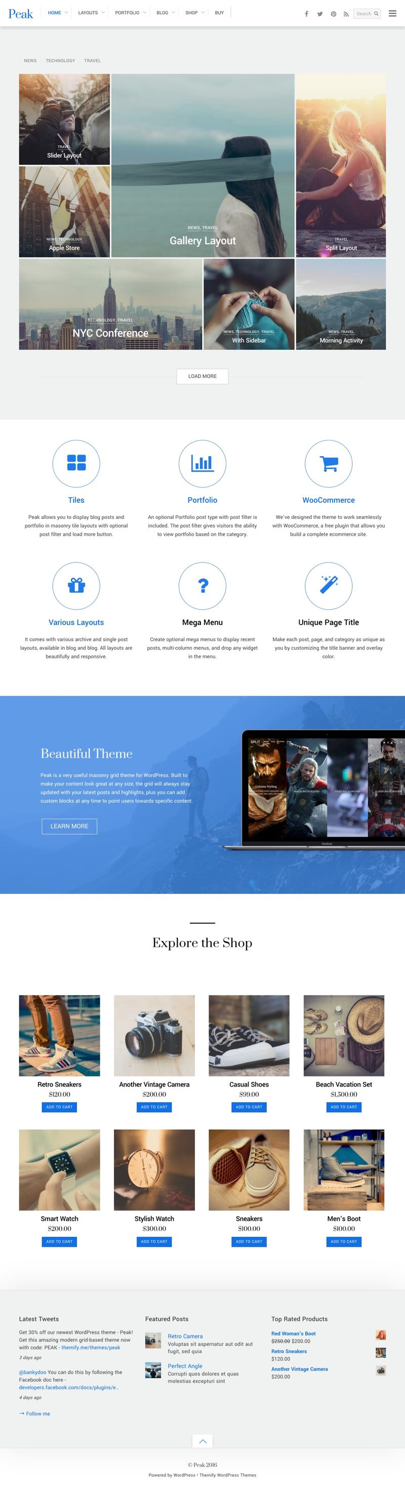 Peak WordPress Grid WordPress Theme