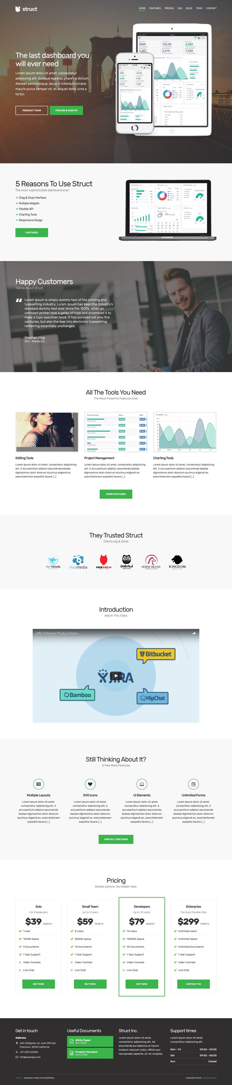 Struct WordPress Creative Business Service Theme