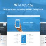 WiApp Apps Landing HTML Template