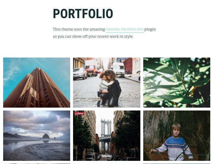 Maker Pro WordPress Genesis Portfolio Theme