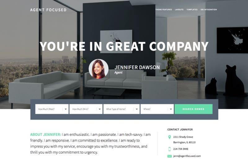 Agent Focused Pro WordPress Real Estate Listing Theme