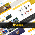 ConBiz Free Bootstrap Template for Construction Company