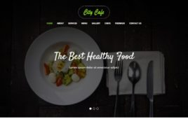 City Cafe Restaurant Bootstrap Template