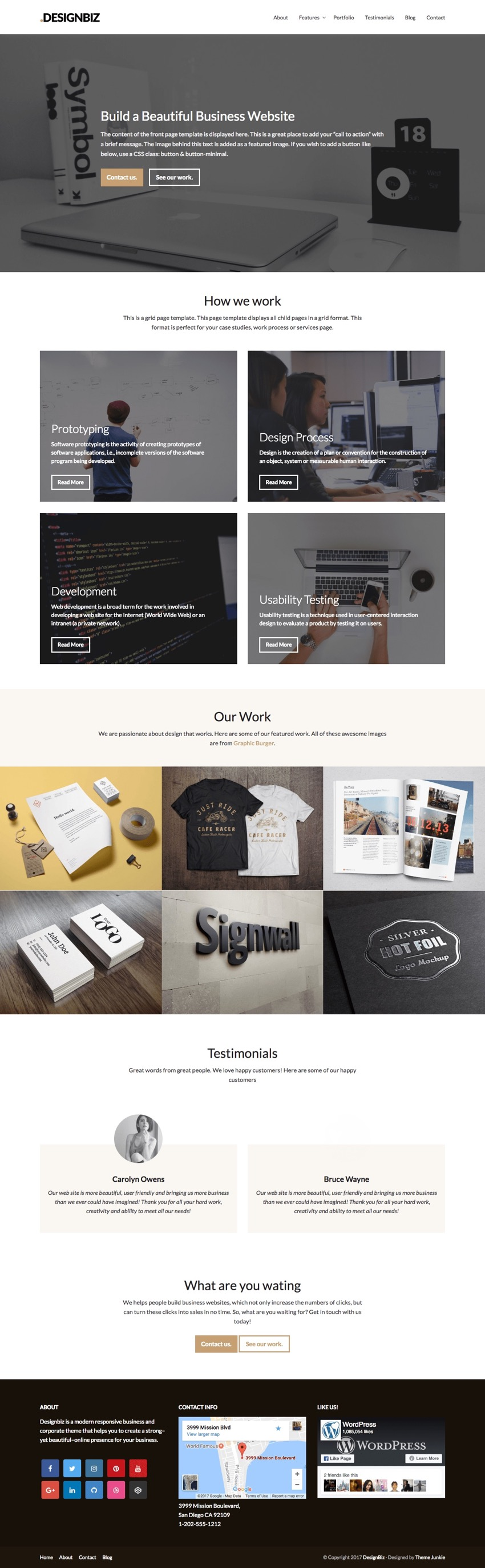 Designbiz WordPress Business Theme