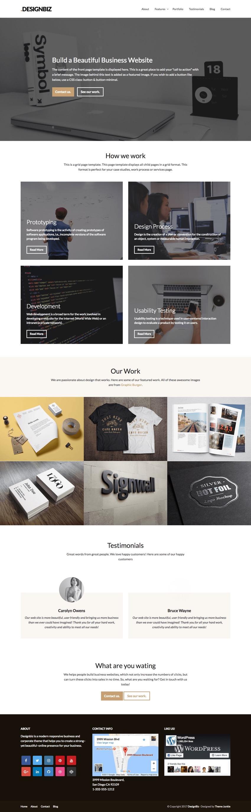 Designbiz WordPress Business Theme