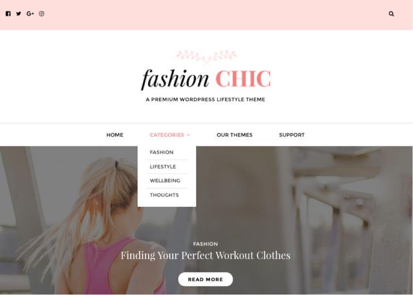 Fashion Chic WordPress Lifestyle Blogging Theme