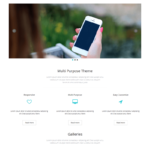 eNno Free Simple Bootstrap Template