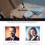 My Resume Free HTML Bootstrap Template