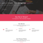 Tempo Free One-page Bootstrap Theme