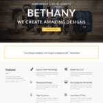 Bethany Free Minimal One-page Bootstrap Theme