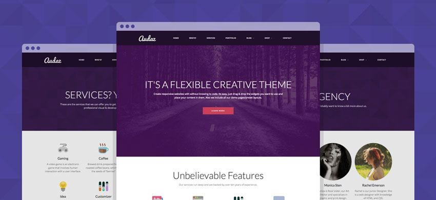 Audaz WordPress Boutique Agency Theme