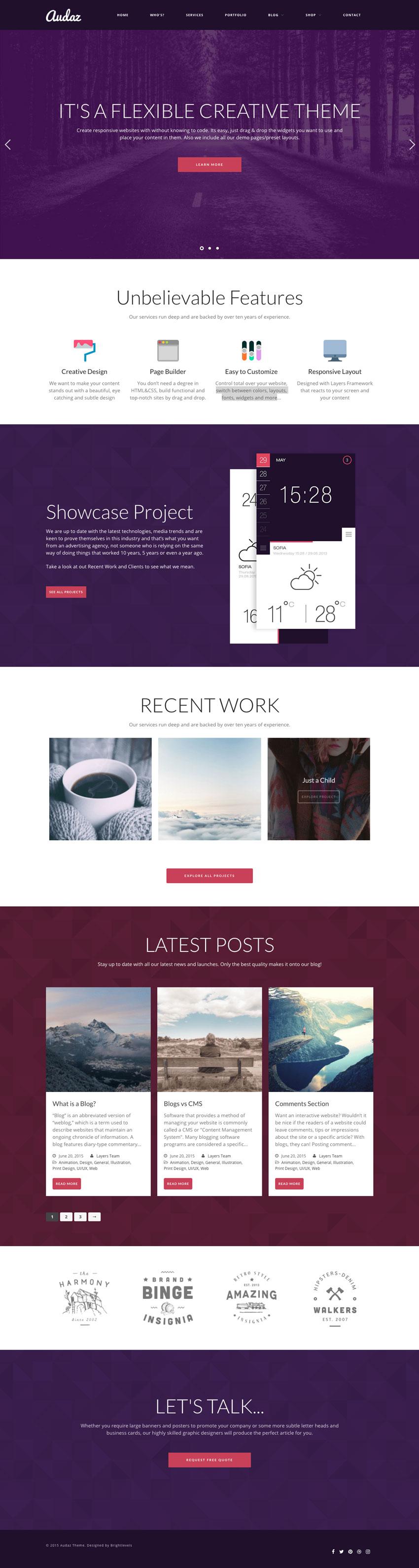 Audaz WordPress Boutique Theme