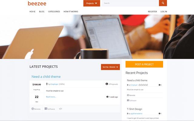 Beezee Child Theme for HireBee WordPress Theme