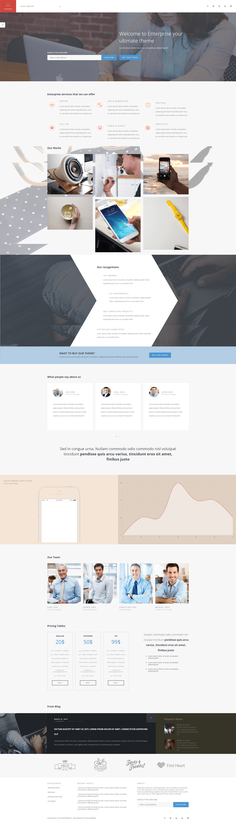 Enterprise WordPress Multipurpose Corporate Theme